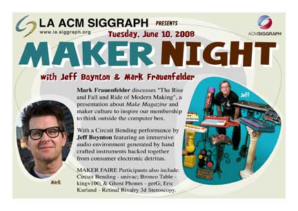 Maker Night postcard