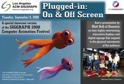 Plugged-in: On & Off Screen postcard