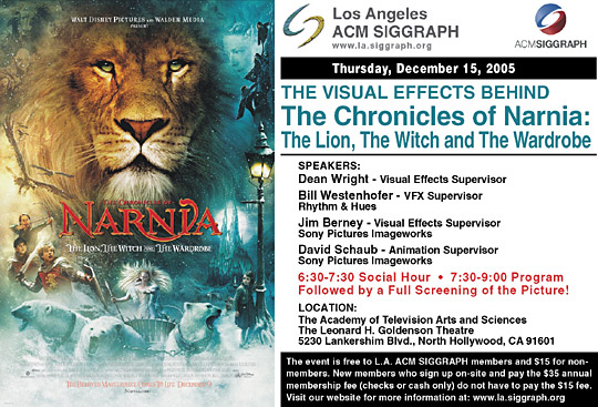 """The Visual Effects Behind """"The Chronicles of Narnia"""" postcard"""