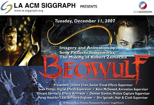 "The Making of Robert Zemeckis' ""Beowulf"" postcard"