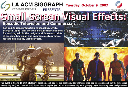 Small Screen Visual Effects postcard