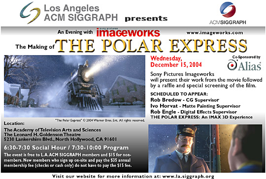 "The Making of ""The Polar Express"" psotcard"