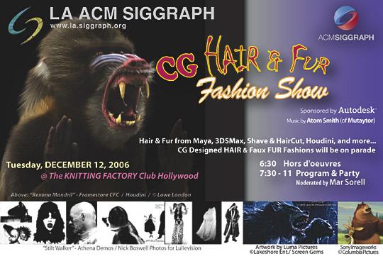 CG Hair & Fur Fashion Show postcard
