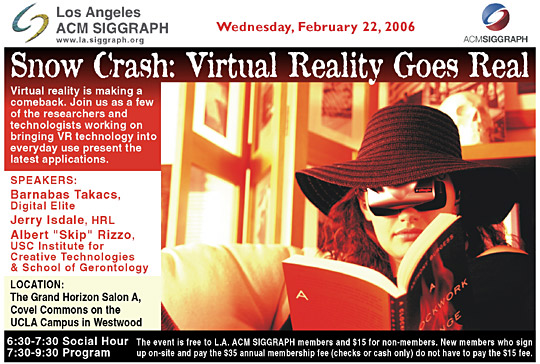Snow Crash: Virtual Reality Goes Real postcard