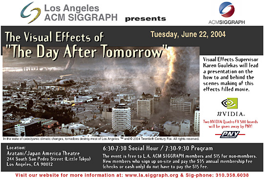 "The Visual Effects of ""The Day After Tomorrow"" postcard"