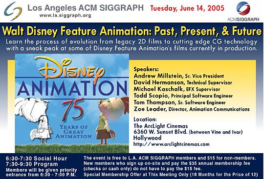 Walt Disney Feature Animation: Past, Present, & Future postcard