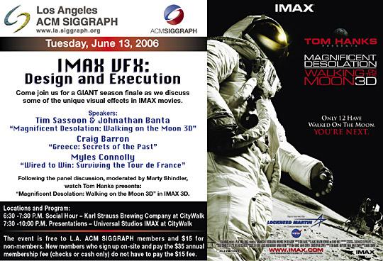 IMAX VFX: Design and Execution postcard