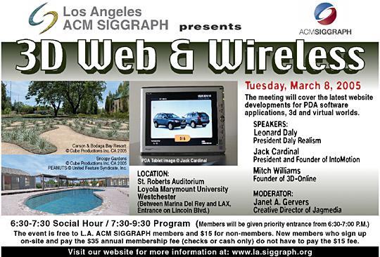 3D Web & Wireless postcard