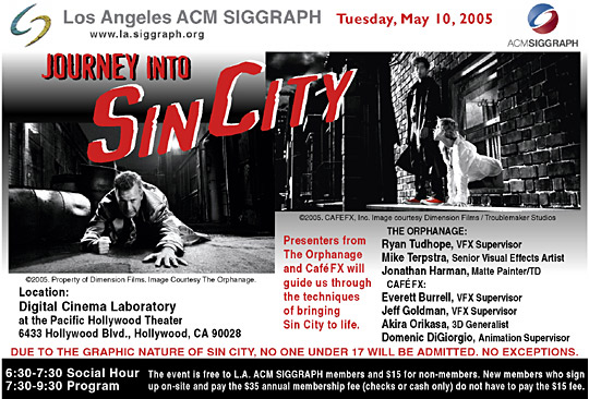 Journey into Sin City postcard