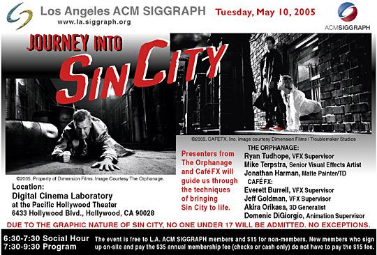 Journey into Sin City postcard
