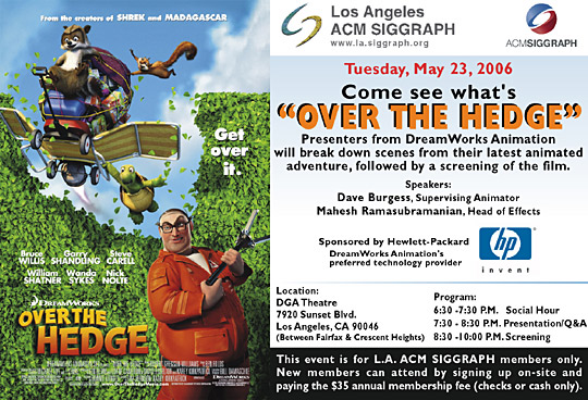 "Come See What's ""Over the Hedge"" postcard"