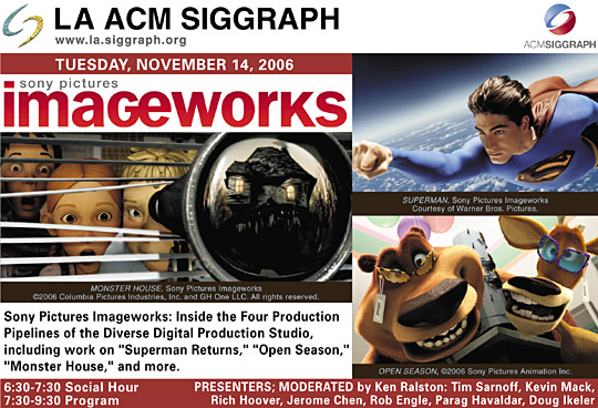 Sony Picture Imageworkds Pipeline postcard